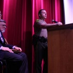 L-R: Attorney General William Sorrell, Principal Joe Collea, Trooper Richard Slusser.