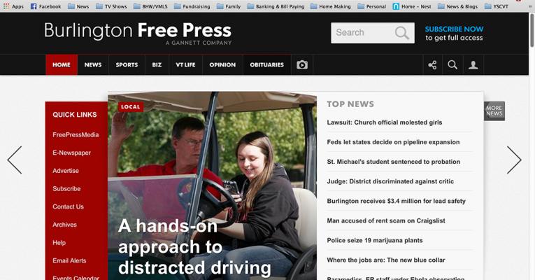 Burlington Free Press Article