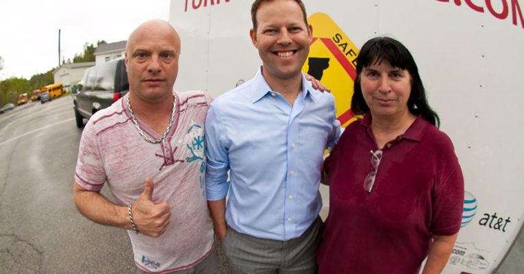 Paul Burroughs, Andrew Kingman, & Pam Ricker at Cabot High School